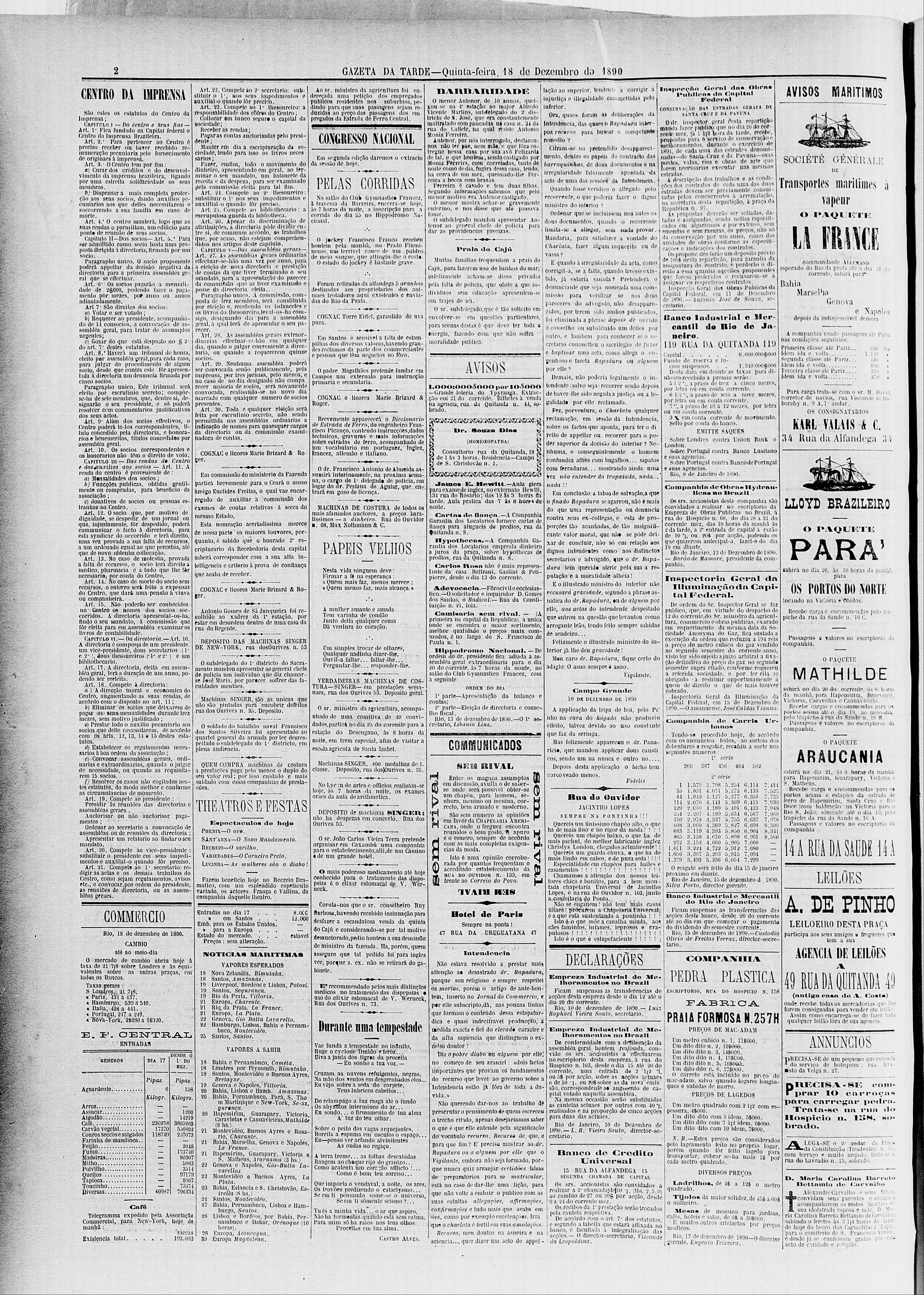 Gazeta-da-Tarde-18-Dez-1890-JCVF-Pretende-Hotel-A